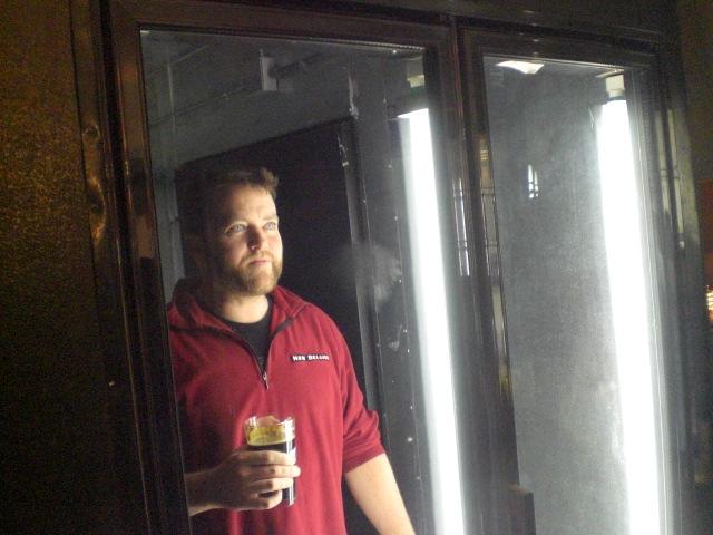 Beer aficionado Jesse McCann anticipates the opening of his new pub, Apex.