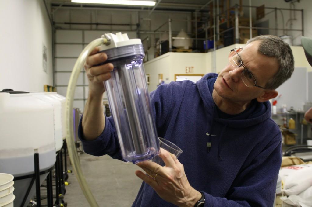 Vertigo's Mike Haines shows us a hand built hops randall