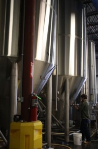 Fermenters at Allagash Brewery