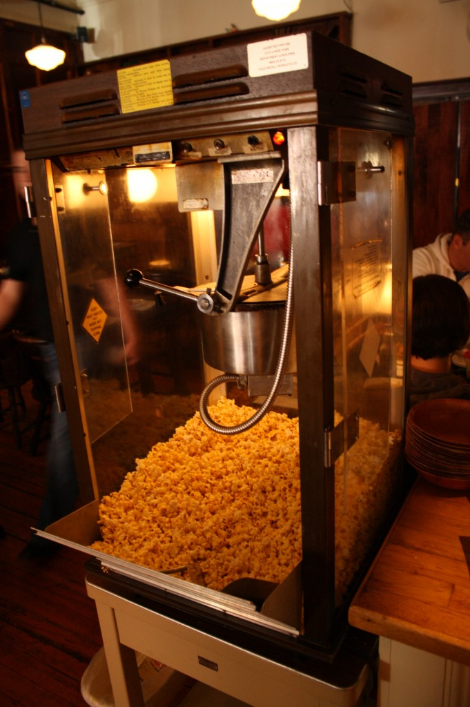 Popcorn for free at the Tap in Haverhill