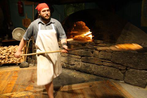 Flatbread wood-fired pizza