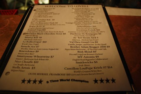 Ebenezer's tap list