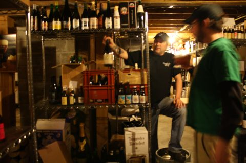 Chris Lively shows us his extremely rare collection of beer in Ebenezer's cellar