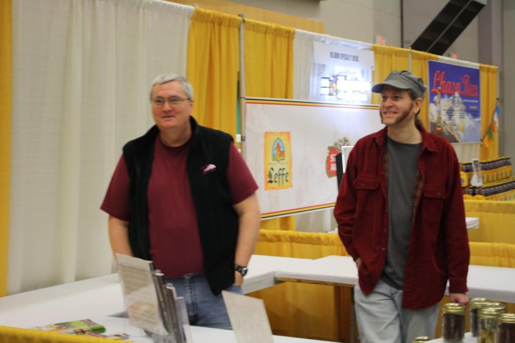 Oregon Brew Crew's Scott Sanders (left) and Aaron Grier