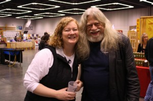 """Lisa """"The Beer Goddess"""" Morrison and Horse Brass founder Don Younger"""