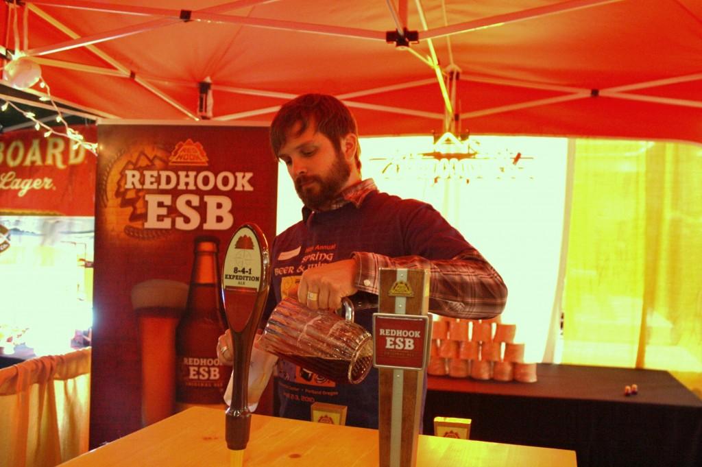 Redhook 8-4-1 poured at Spring Beer & Wine Fest