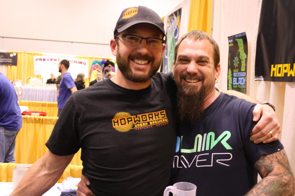 Oregon Organic pioneers Christian Ettinger of Hopworks (left) and Craig Nicholls of Roots