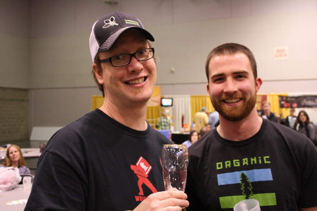 Laurelwood's Chad Kennedy (left) and Hopworks' Mike Neubauer