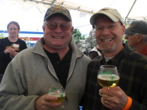 Cascade brewmaster Ron Gansberg (left) and Widmer co-founder Rob Widmer at PCTBB '10