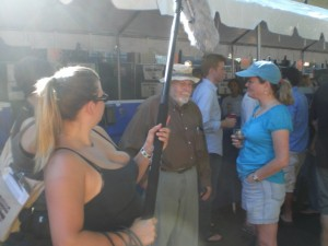 Fred Eckhardt (center) and Teri Fahrendorf filmed For The Love of Beer documentary at PIB 2010