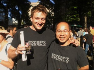 Roscoe's founders Jeremy Lewis (left) and Quyen Ly