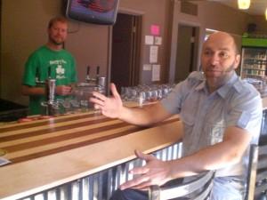 Brant Kunze (right) and Shawn Meyer of Bottles