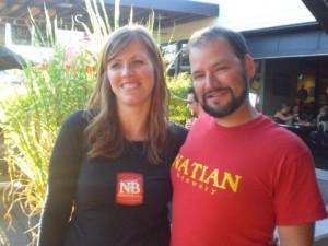 Natian's Natalia Laird (left) and Ian McGuinness