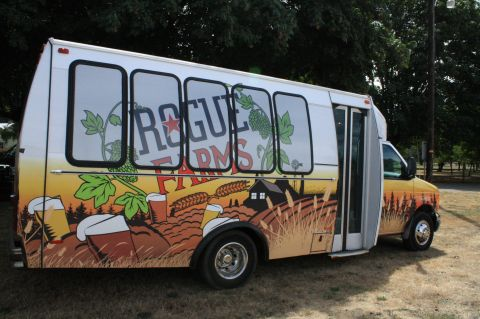 Rogue Farms hop bus