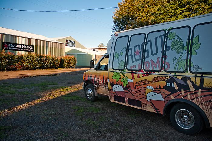 Rogue Farms shuttle bus