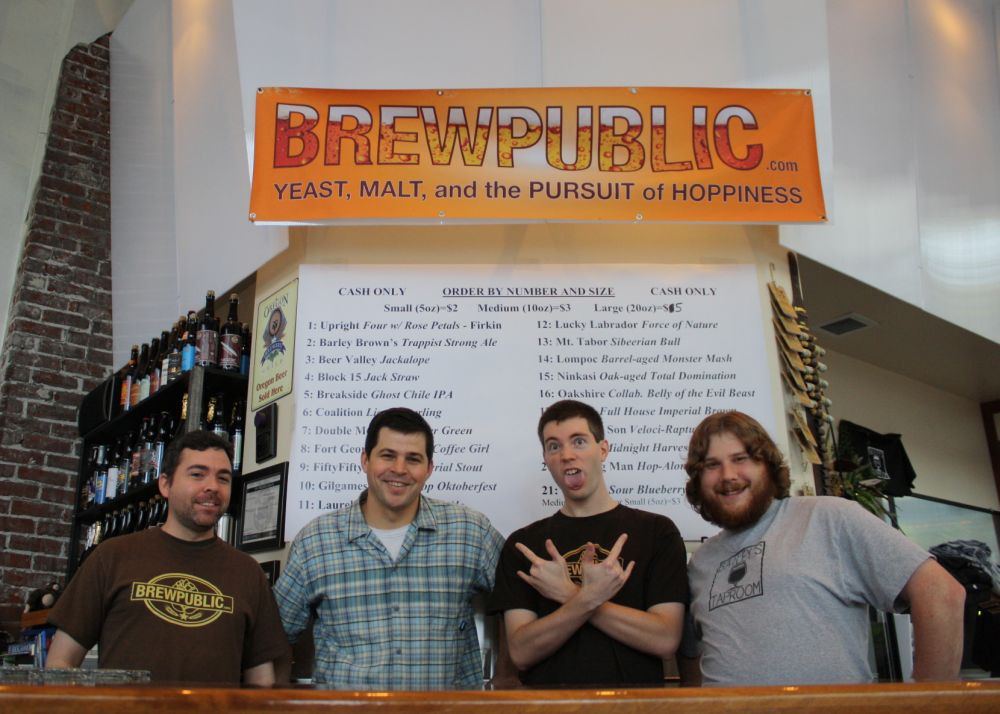 Bailey's Taproom staff (left to right) Nick, Geoff, Michael, and Scott