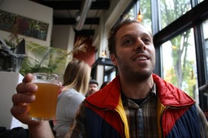 Breakside Brewer Ben Edmunds with his Ghost Chili IPA