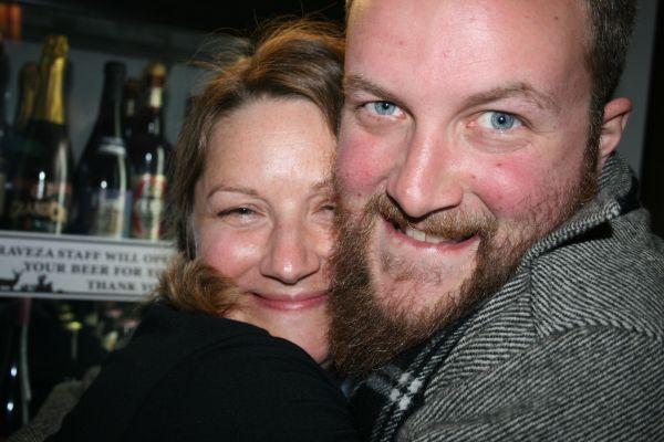 "Saraveza bartenders Erika Huston (left) and Tyler ""the Elder"" Vickers"