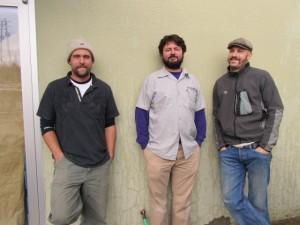 Burnside Brewing crew: (l to r) Brewer Jason McAdam, Adam Cassie, and Jay Gilbert
