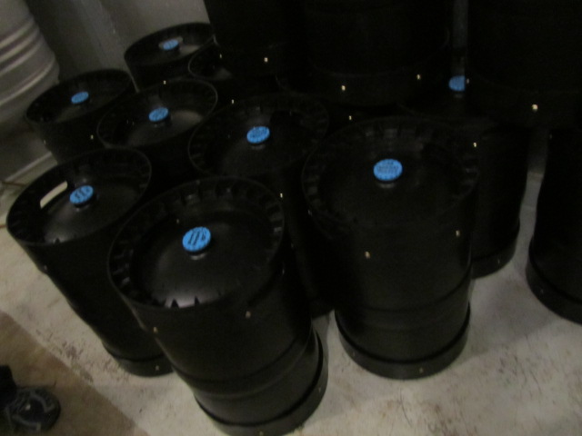 Kegs of CRB's Paddlers Porter for Holiday Ale Fest
