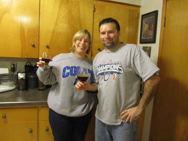 Colts faithful: Amy and Ritch Marvin