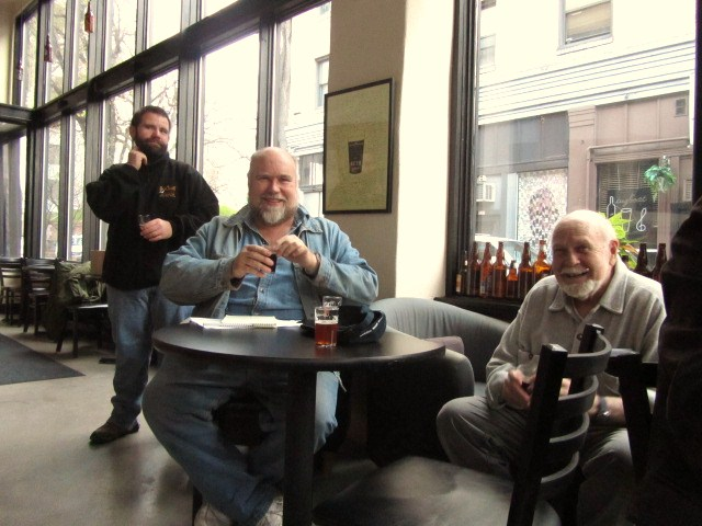 Beer geek old timers John Foyston and Fred Eckhardt