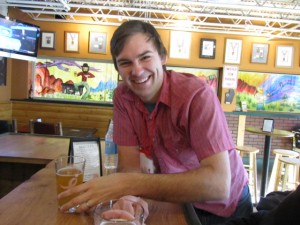 Eric Steen of Beer and SciFi enjoys a Ms. Jackie Brown pumpkin saison at Twisted Pine Brewing