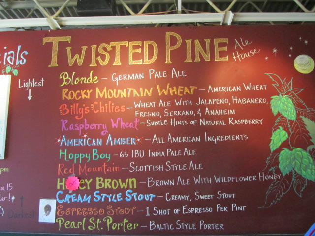 Twisted Pine tap list