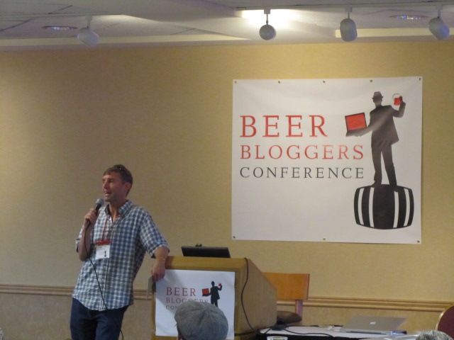 Zephyr Adventures' Allan Wright addresses the folks attending the 2010 Beer Bloggers Conference