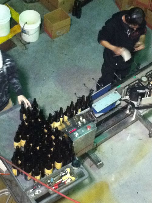 The Dissident bottling at Deschutes Brewery in Bend