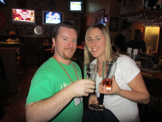 Ian and Amber from 2BeerGuys on the BBC '10 Boulder pub crawl