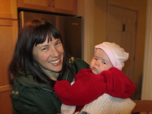 Saraveza's Sarah Pederson (left) and baby Roxie