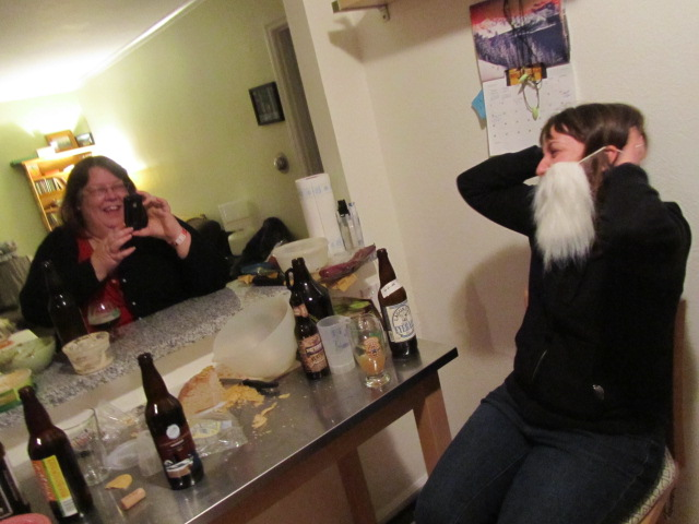 Teresa Culp snaps a picture of jolly Santa...oh, wait...