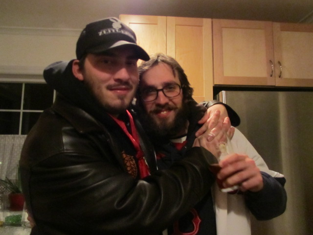 "Ezra aka ""Samurai Artist"" and Angelo bro out towards the end of the evening"