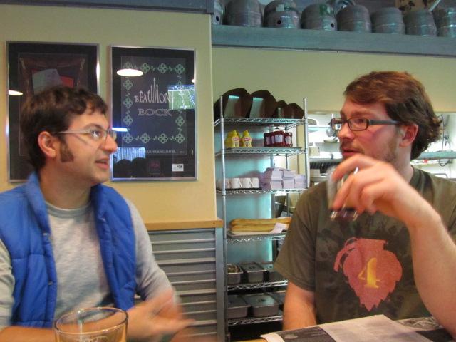 Upright's Alex Ganum (left) and Alameda's Sean White
