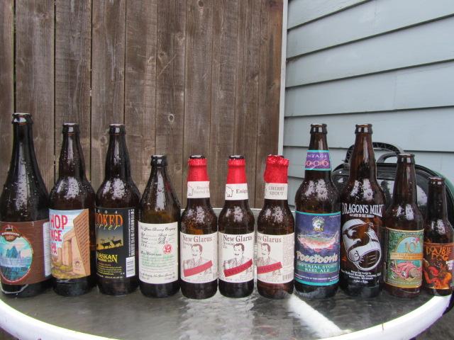 Some beers drunk Saturday