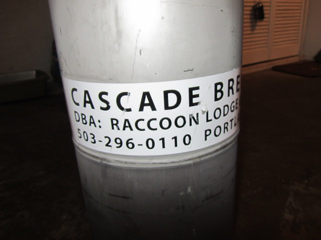 A special cellared keg of 1008 Cascade Saison was tapped later in the night for the Brewpublic faithful