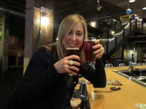 Amber Jansen with Boston Beer Works Winter Warmer and Winter Works Gruit