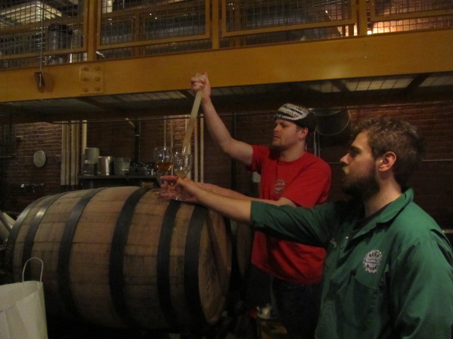 Boston Beer Works (Canal Street) brewers Jack Hendler (left) and Zandy Zeiser