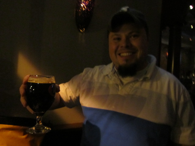 Sean Jansen at Deep Ellum with Beer Here Dark Hops Imperial CDA