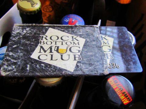 Rock Bottom Mug Club Card