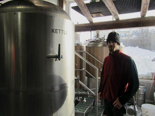 Marshall Wharf brewer Jared Mahrunic in the brewhouse