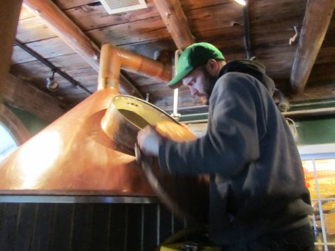 The Shed head brewer Jim Conroy in action