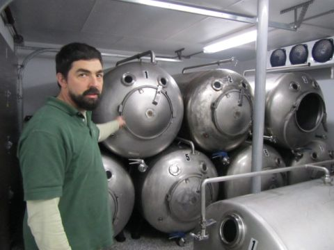 Trapp brewer Jamie Griffith shows us the lagering tanks