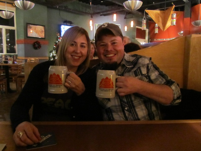"""Amber """"Goddess of the Stout"""" and Sean Jansen at Redhook Brewpub in NH"""