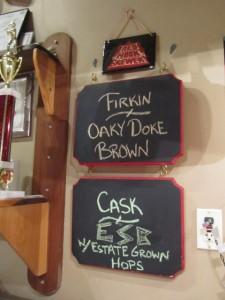 firkin/cask board at Redhook in Portsmouth, NH