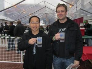 Roscoe dudes: Quyen Li (left) and Jeremy Lewis