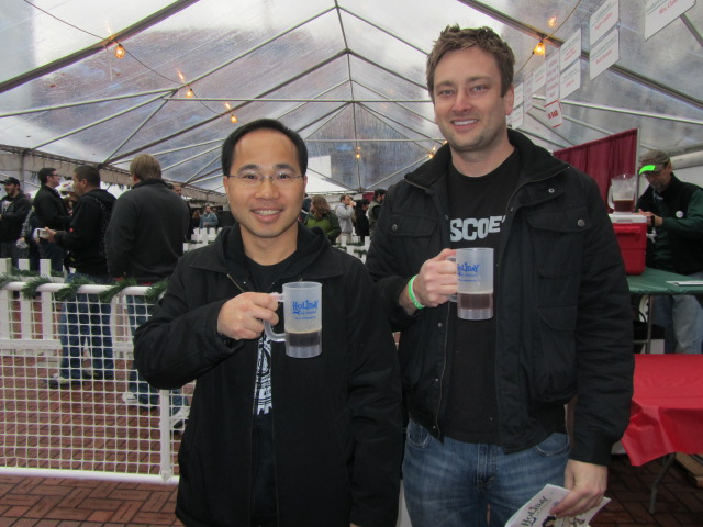 Roscoe dudes: Quyen Li (left) and Jeremy Lewis