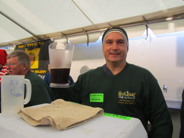 Funny seeing this guy at a beer fest...not! Chuck loves his good brew