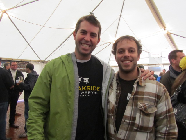 Breakside Brewery bros Scott Lawrence (left) and brewer Ben Edmunds